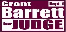 Grant Barrett for Judge