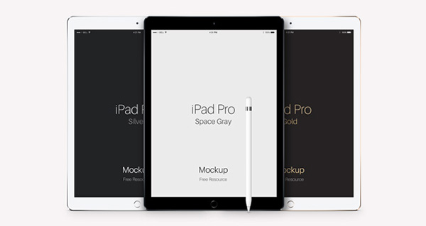 Smartphone & Tablet Mockup PSD Terbaru Gratis - iPad Pro Vector Mockup