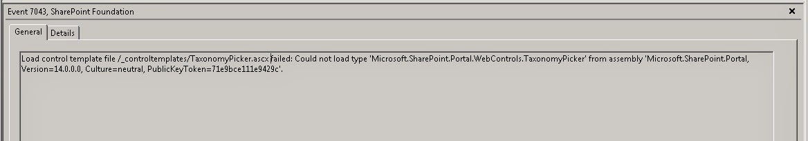 SharePoint PitStop: SharePoint 2010: Event 7043 \