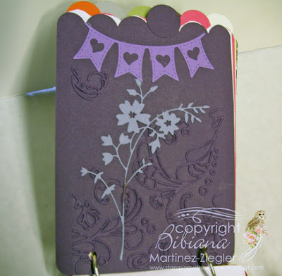 paint swatch book inside purples