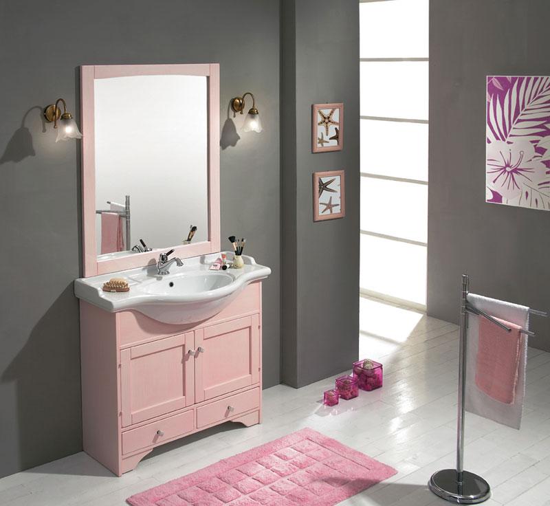 Accesorios Baño Gris:Espacios en rosa y gris