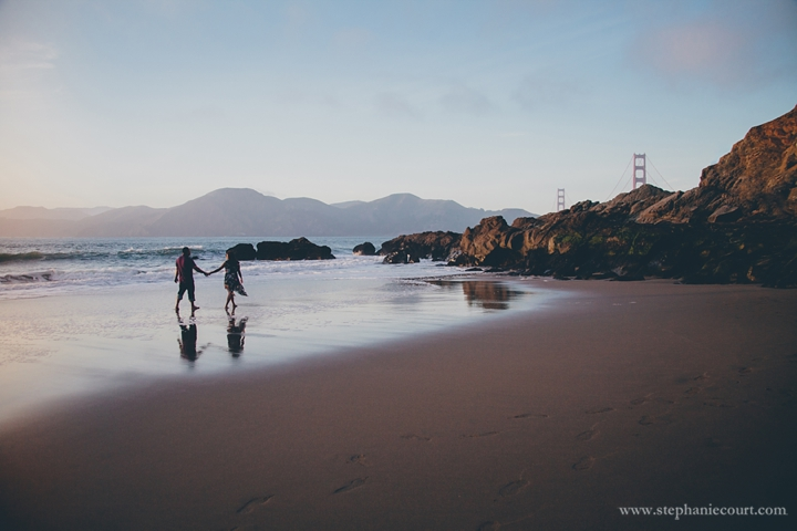 Baker Beach Engagement Photography
