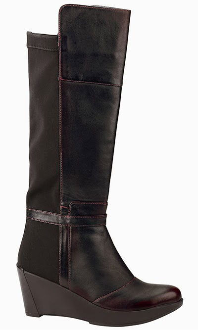 Naot Delilah - Volcanic Red Leather/Black Stretch
