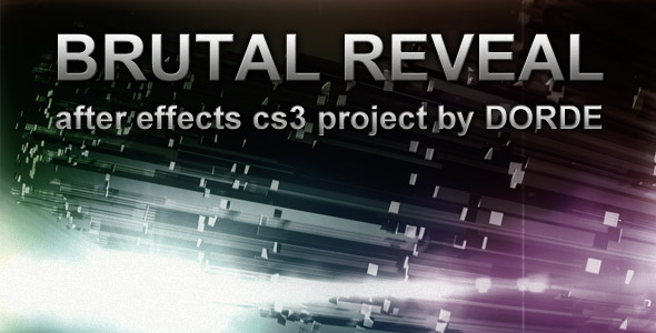 After Effects Project Brutal Reveal