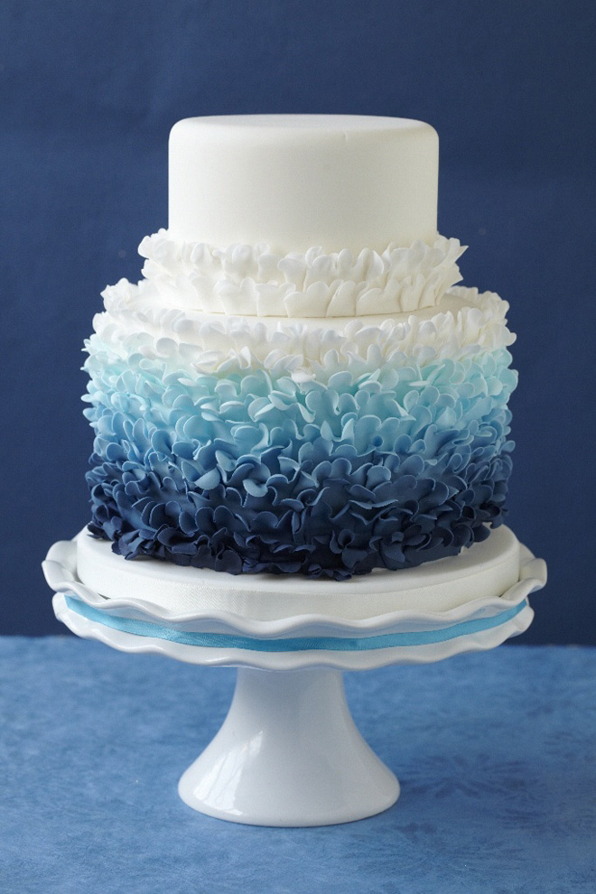 Cake Designs For Photographers : 12 Fabulous Ombre Wedding Cakes - Belle The Magazine