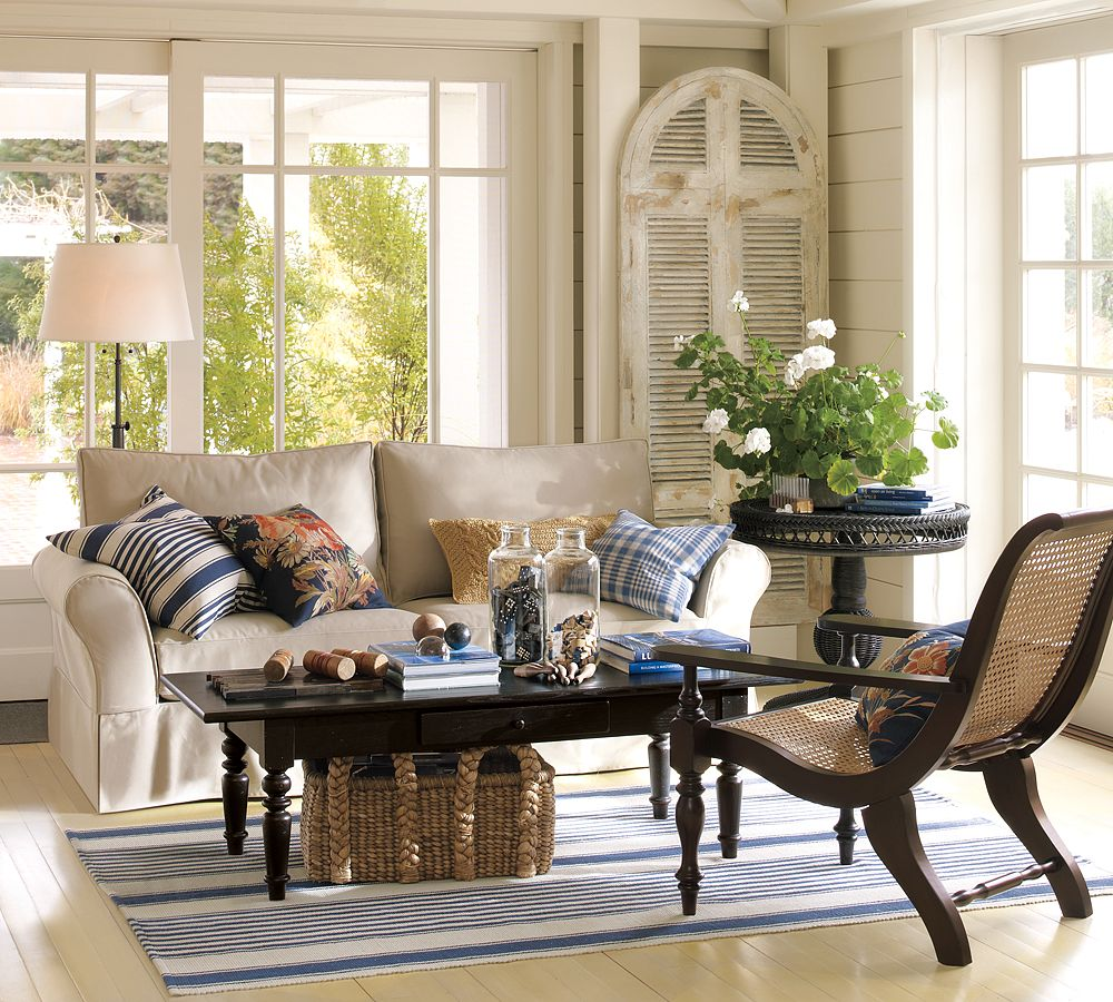it 39 s here pottery barn summer catalog the wicker house. Black Bedroom Furniture Sets. Home Design Ideas