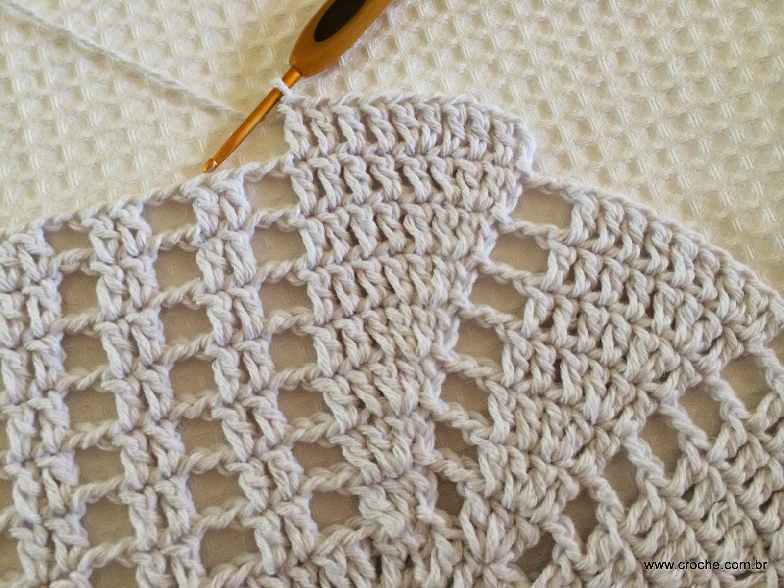 Croche Com Br -> Tapete De Croche Oval Simples Passo A Passo