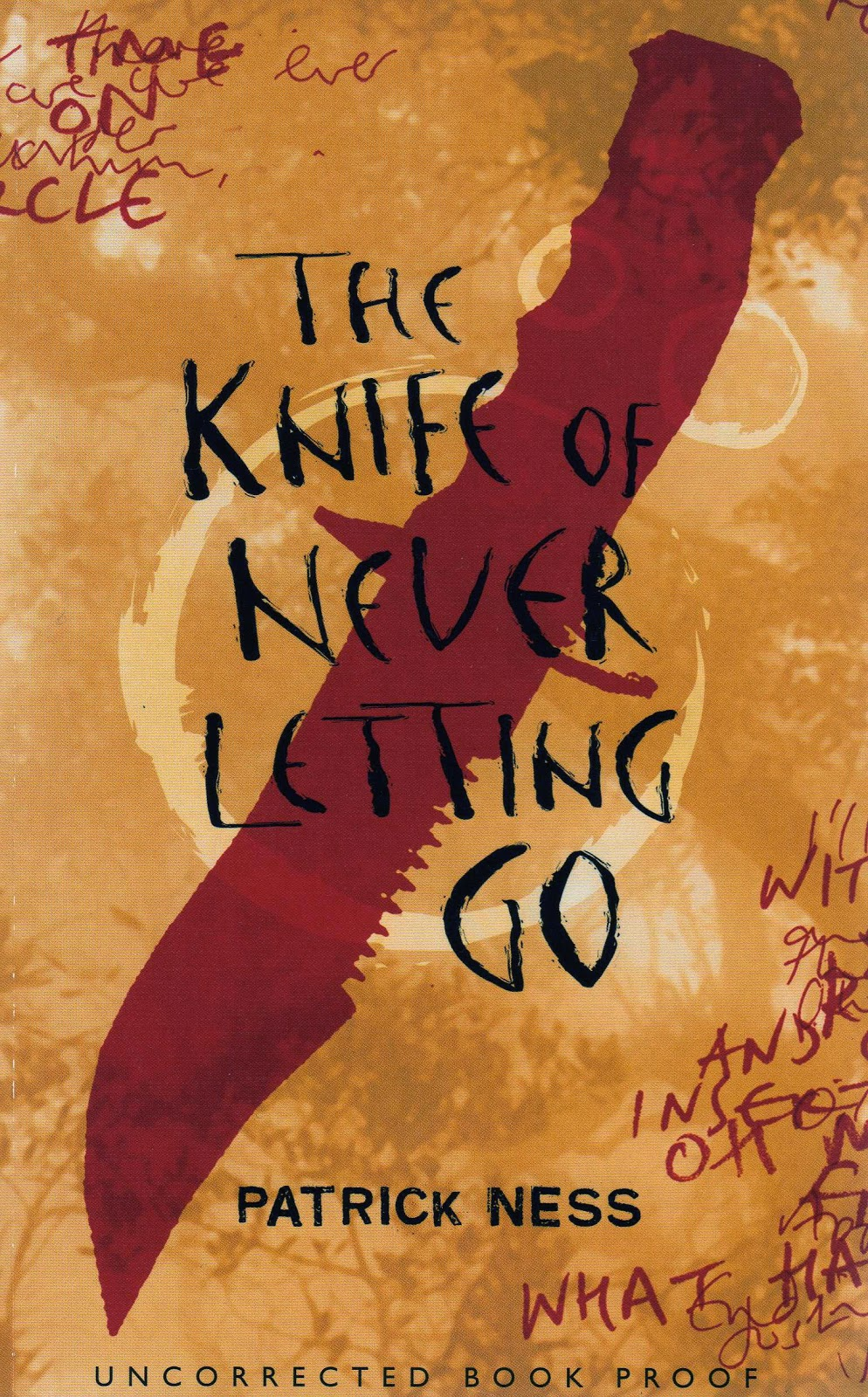 the knife of never letting go book cover by patrick ness