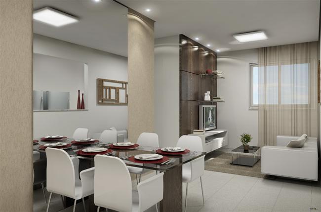 decoracao de interiores salas de apartamentos:Decoração de Interiores Casa: Espelho na Sala de Jantar