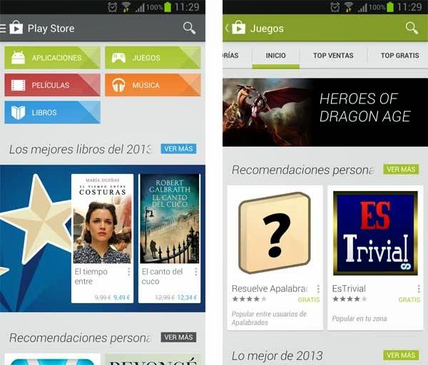 Google Play podría tener un cambio de apariencia radical