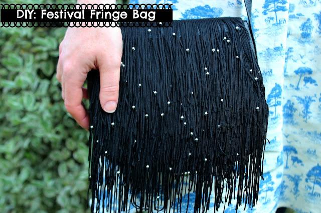 diy fringed bag