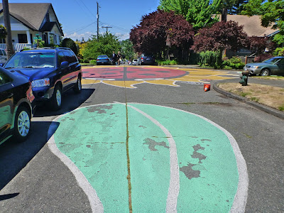 Wallingford Ladybug Intersection - Painting