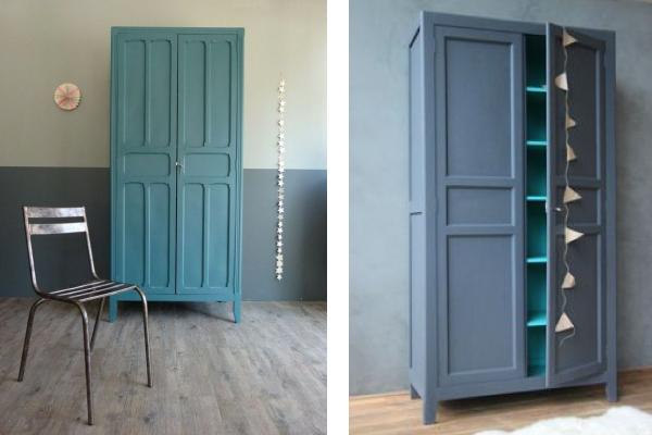 Nuova vita ai vecchi armadi blog di arredamento e interni dettagli home decor - Dipingere vecchi mobili in legno ...