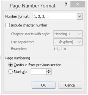 Nomor Halaman page number