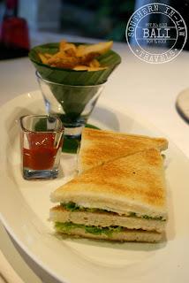 Gluten Free in Bali - Cascades Restaurant Viceroy Club Sandwich