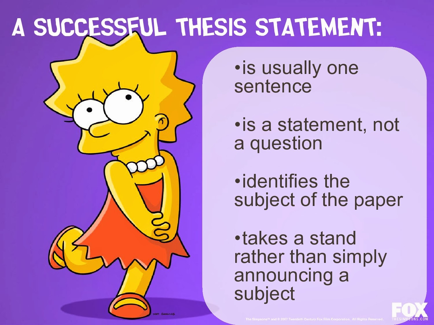 Writing Is Painless!: Thesis Statements and Outlines