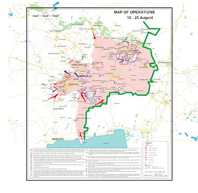 Rebels Advance Towards Mariupol; 15,000 Ukraine Troops Risk Encirclement in North; Kiev Lies Pile Up; New Maps.
