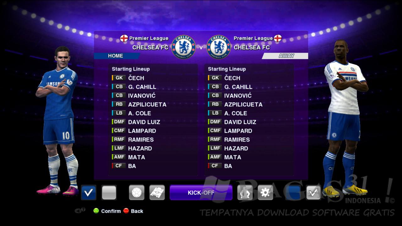 Chelsea 13 – 14 Kit Set PES 2013
