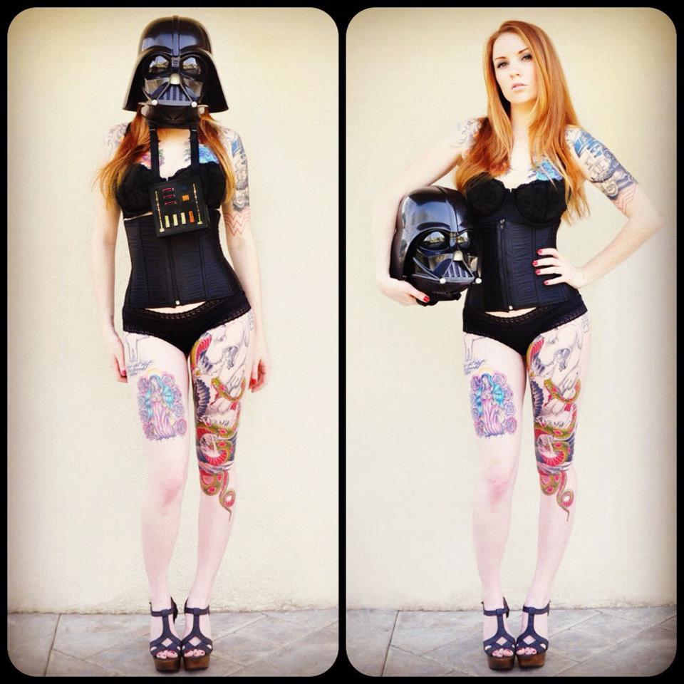 Wars Culture SuicideGirl Kemper With Her Killer Darth Vader Tattoo