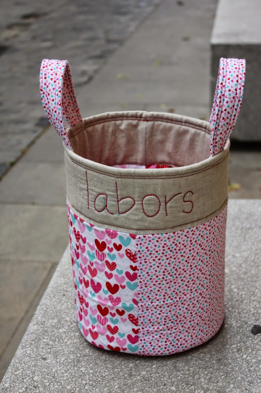 Tela marinera costura cretaiva compartida cistelles tela - Cestos de tela ...