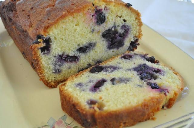 The Friday Friends: Lemon Blueberry Pound Cake