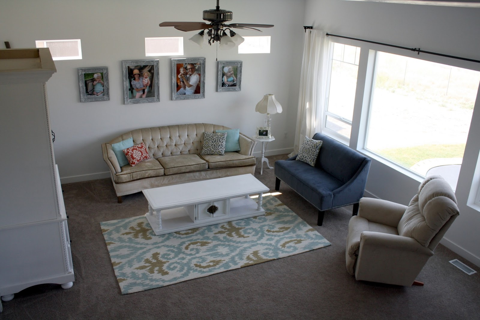 Wainscoting For Living Room Nifty Thrifty Momma Our Home Tour Living Room Reveal With