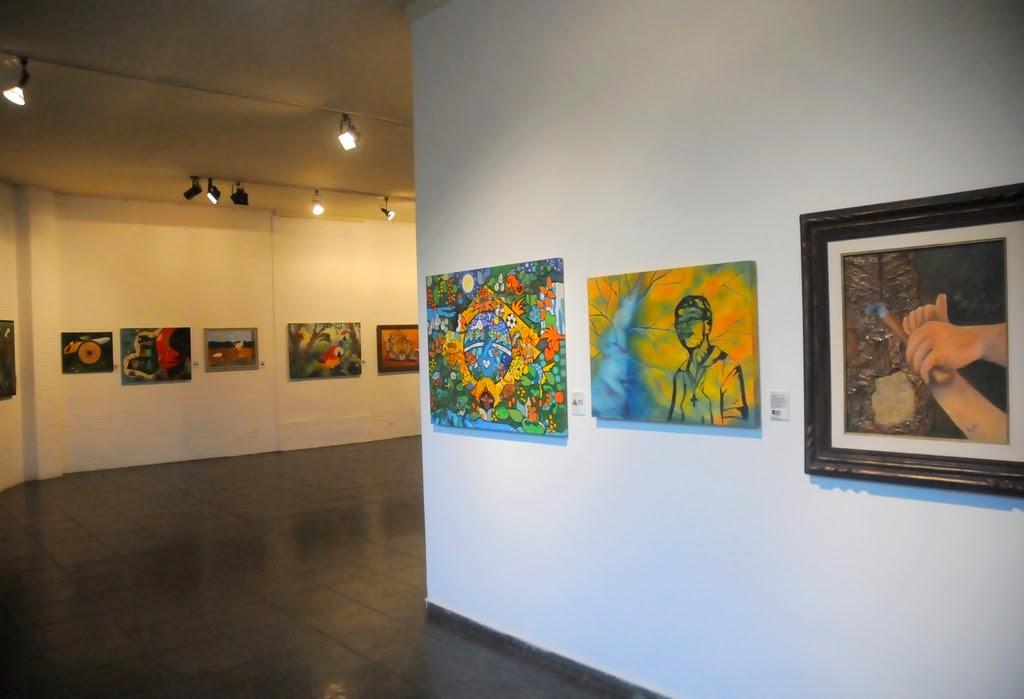 A exposição é composta por 25 trabalhos sobre a Amazônia