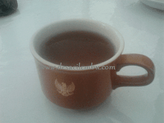 Makan pakai alat makan Istana Bogor
