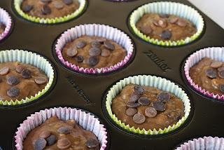 Muffins sa bananama i čokoladom