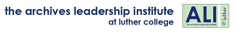 The Archives Leadership Institute | ALI@Luther