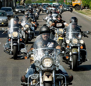 Practicantes de motos