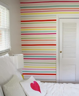 kids bedroom washi tape wall coverings
