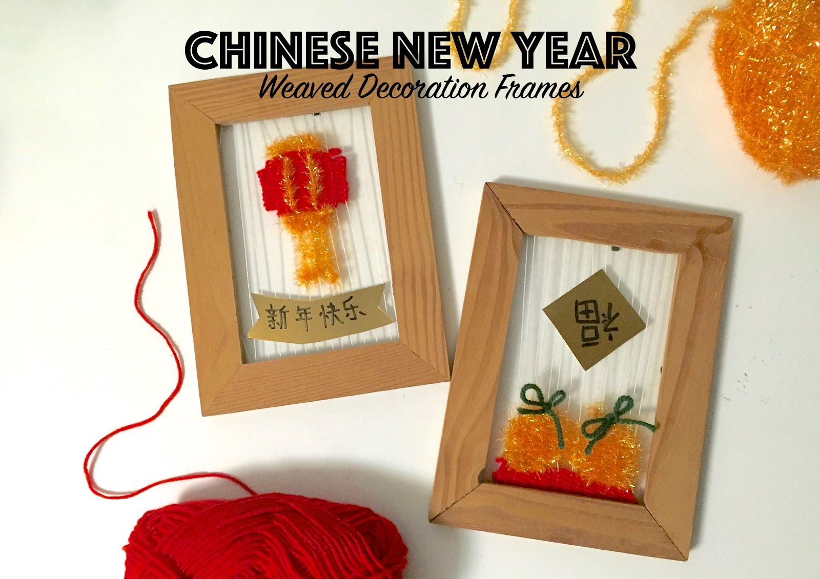 DIY Chinese New Year Weaved Decoration Frames - Melisasa