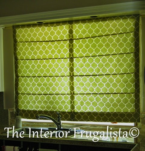 DIY Custom Roman Shade for Kitchen Bay Window Closed