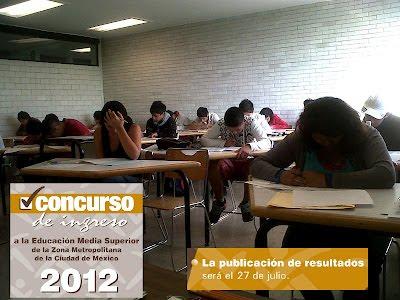 Resultados Comipems Examen 2012 Nivel Medio Superior Bachillerato