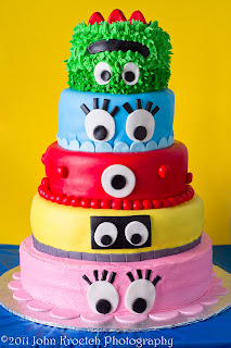 5 tier yo gabba gabba birthday cake