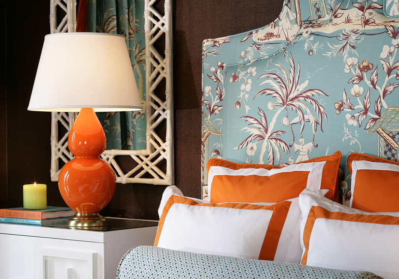 Eye for design decorating with the blue orange color - Orange and light blue bedroom ...