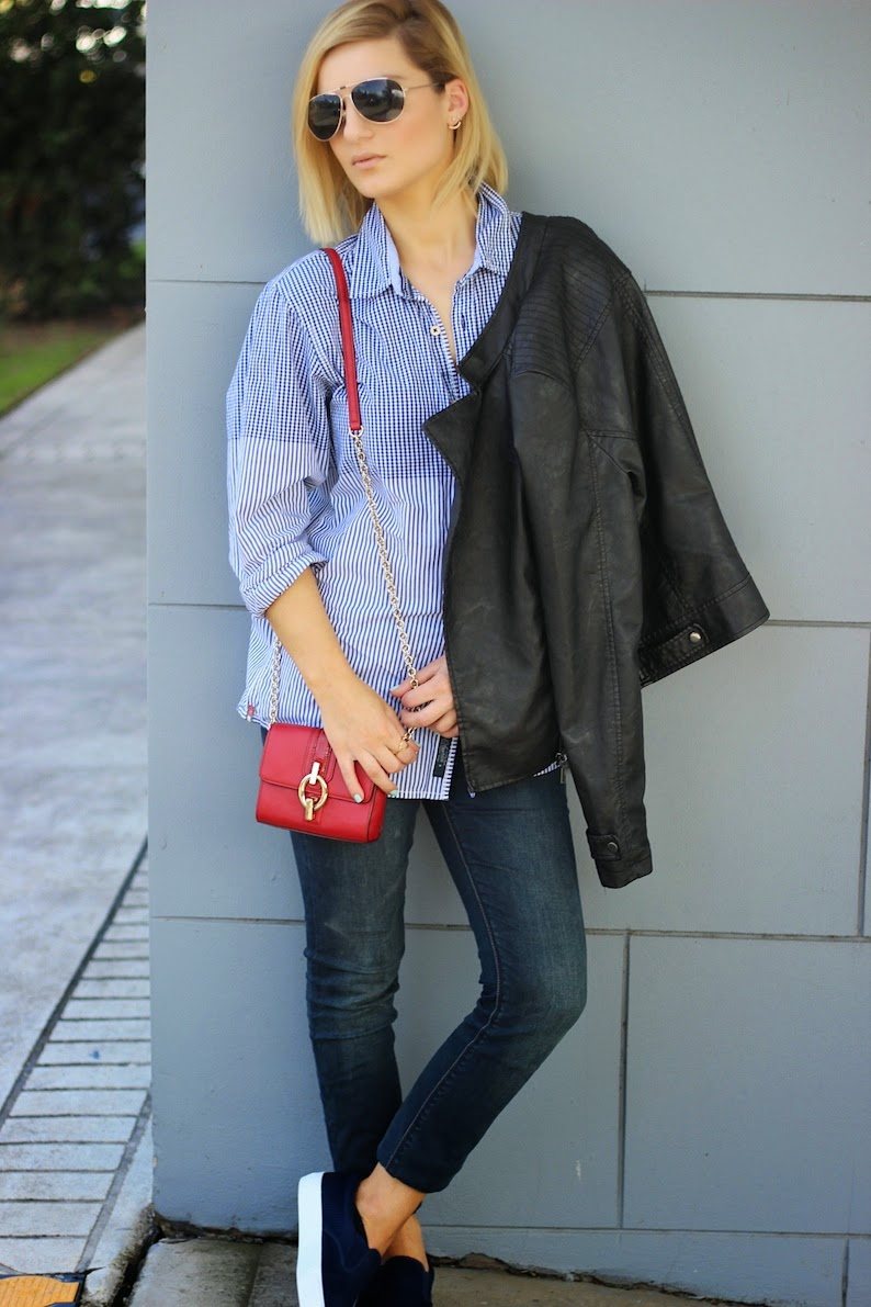 Vogue Vandal Domenica Calarco JEanswest Styling KArdashian Kollection Tommy Hilfiger LeatherJAcket Fashion Blogger