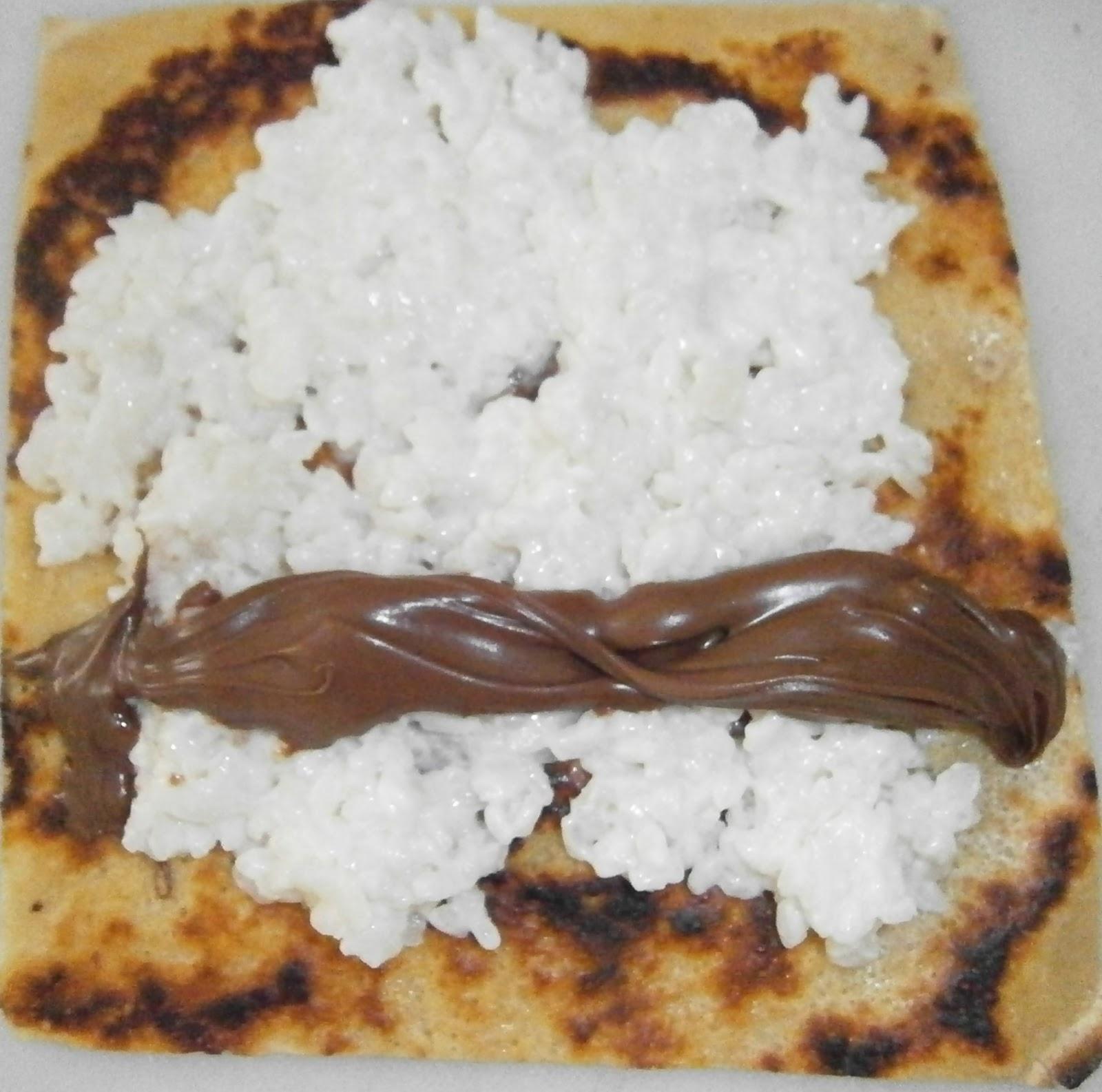 D lices d 39 une novice makis sucr s de cr pe riz au lait de coco et nutella - Laisser reposer pate a crepe ...
