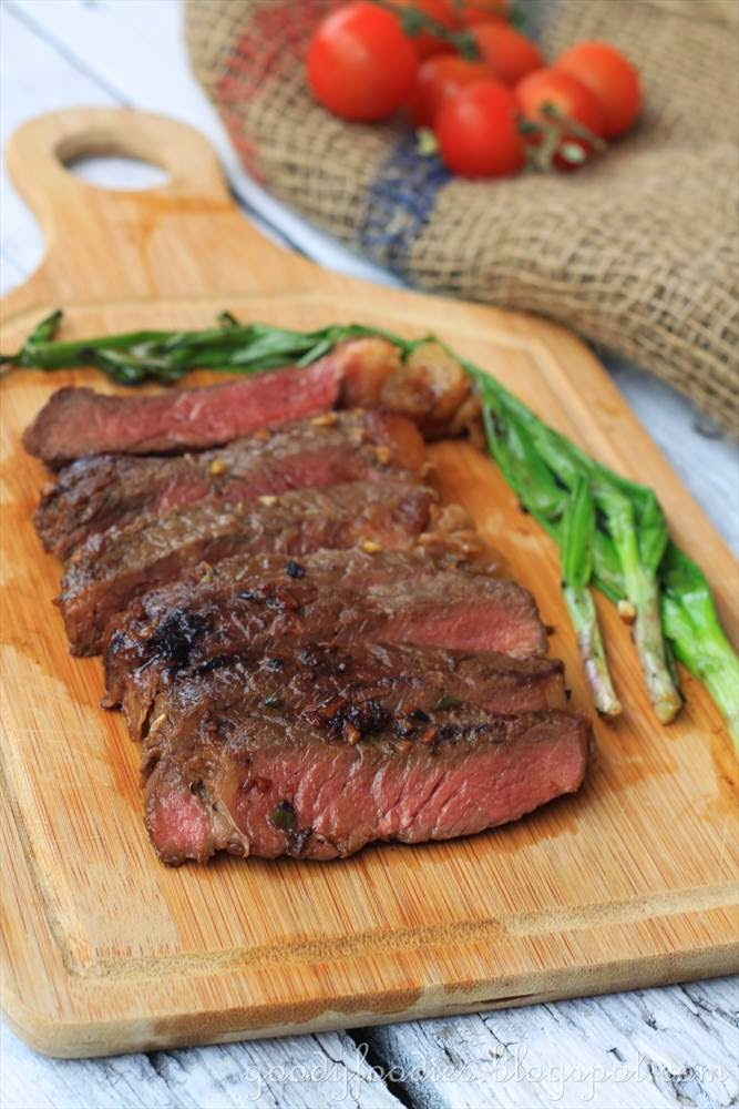 GoodyFoodies: Recipe: Korean-style Marinated Steak with Grilled ...