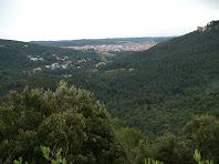Castellar del Vallès des de la Carena de l'Illa