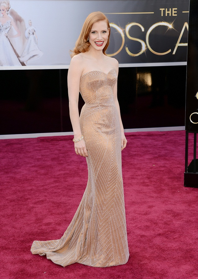 Jessica Chastain - Celebrity Fashion at the 2013 Oscars