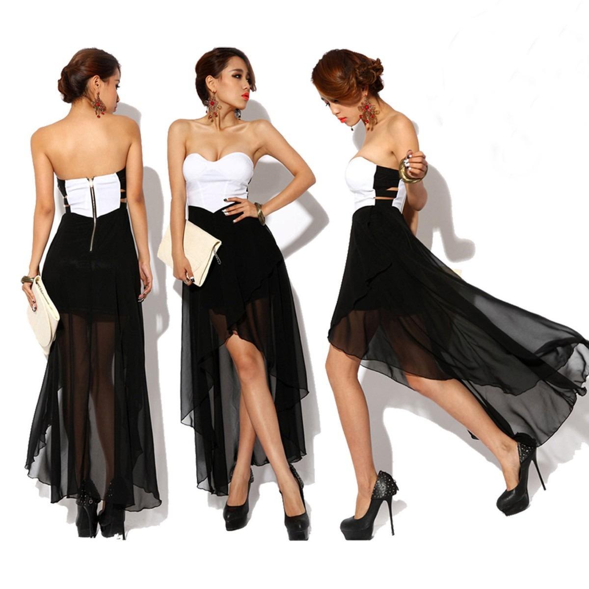 (vestidos acinturados PZ C: vestidos (vestidos blanco negro de fiesta)  ...