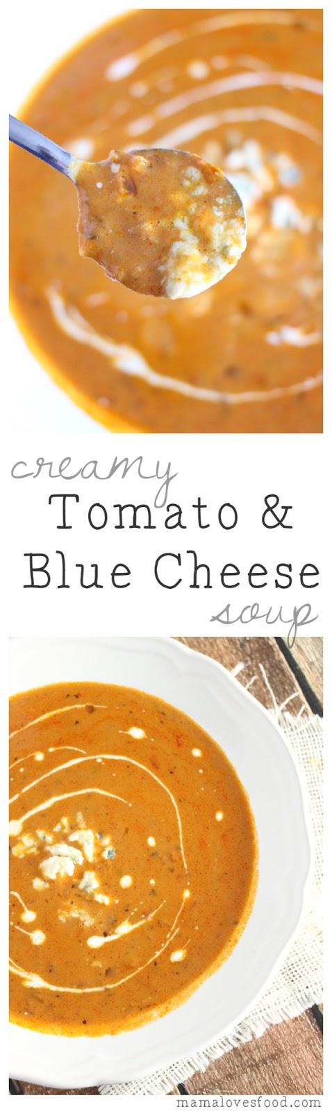 Creamy Tomato and Blue Cheese Soup Recipe