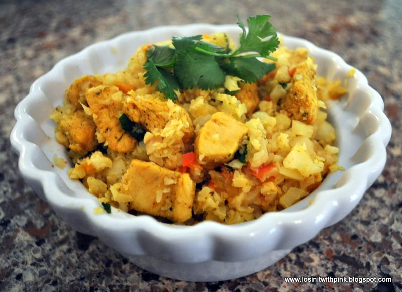 Losin 39 it with pink arroz con pollo pink style - Arroz salteado con pollo ...