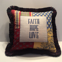 FAITH HOPE LOVE - red/blue mix