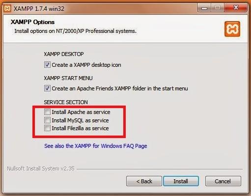option - Cara Install Xampp Di Windows 7