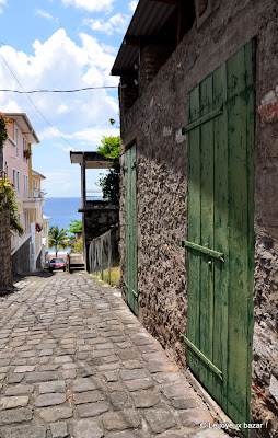 Martinique - Saint Pierre - ruelle pavée