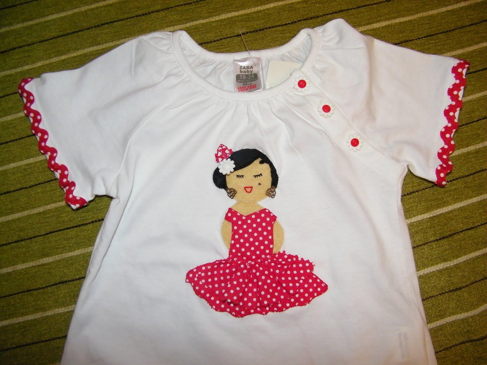 camiseta de fieltro flamenca