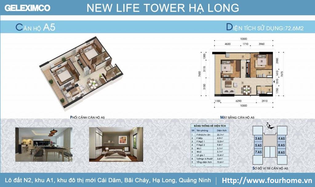 Chung cư Newlife Tower Hạ Long